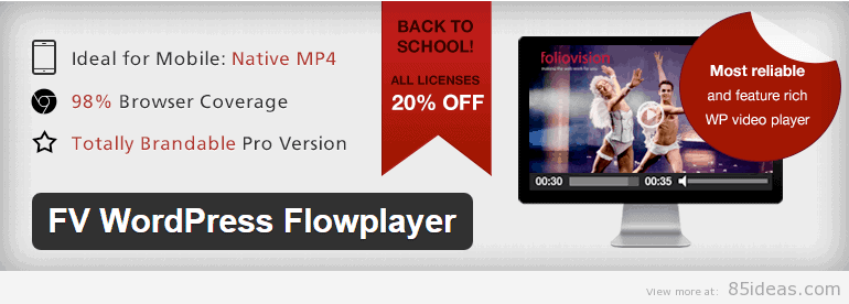 FV WordPress Flowplayer WordPress Plugin