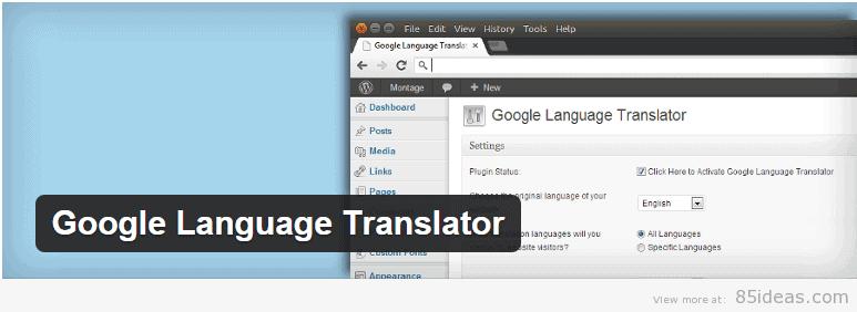 Google Language Translator Plugin