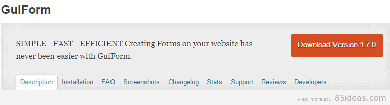 GuiForm WordPress Plugin