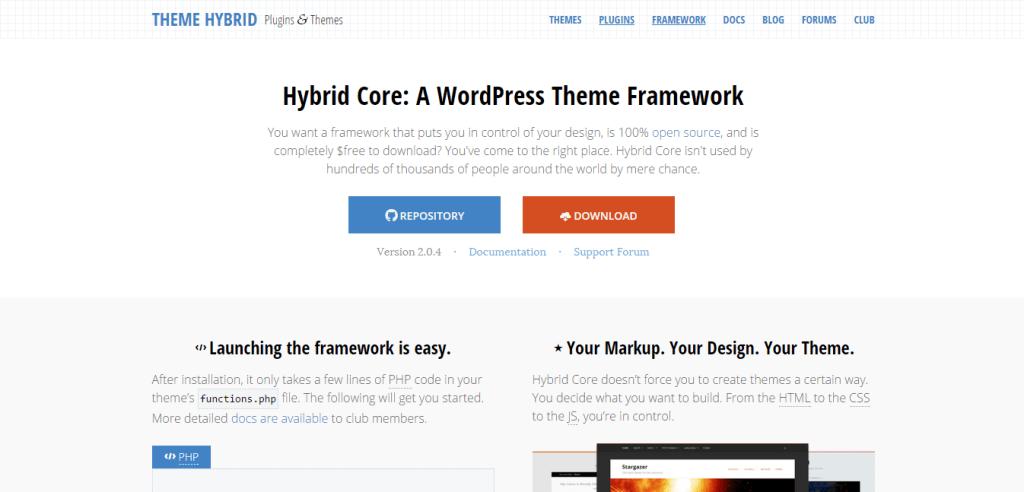 Hybrid Core theme framework