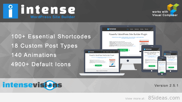 Intense Shortcodes Site Builder Plugn