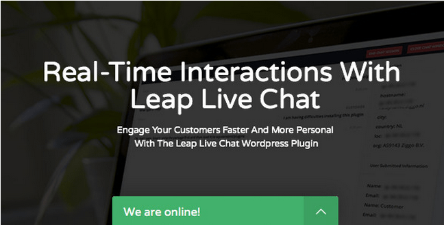 Leap WordPress Live Chat Plugin