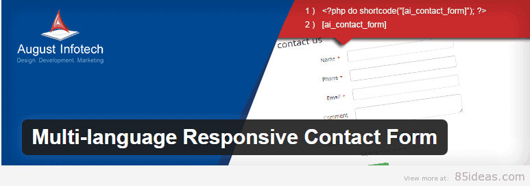 Multi language Responsive Contact Form