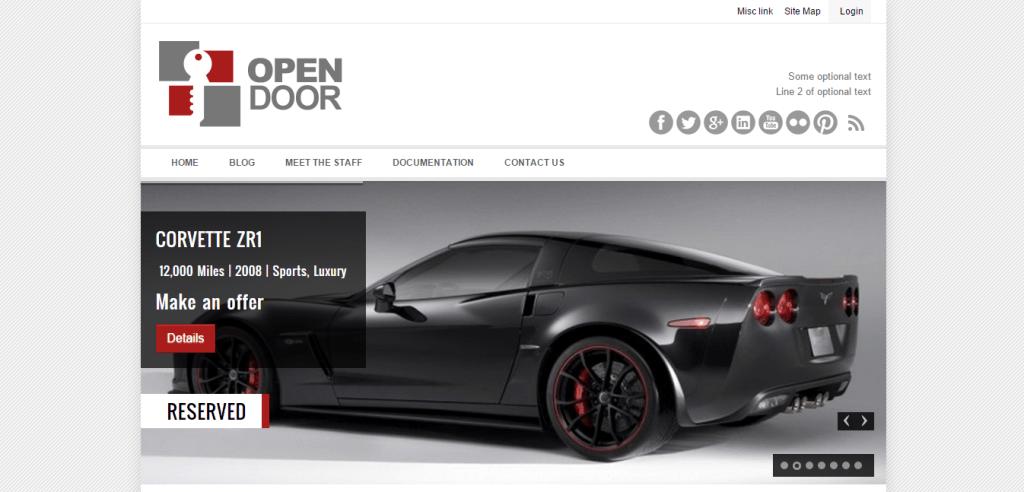 OpenDoor Car theme