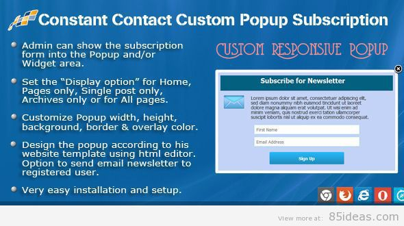 Popup Subscription for WP