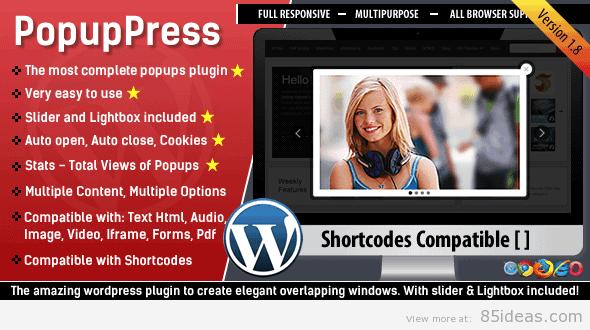 PopupPress Popups with Slider