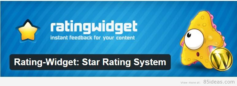 Rating Widget Star Rating System