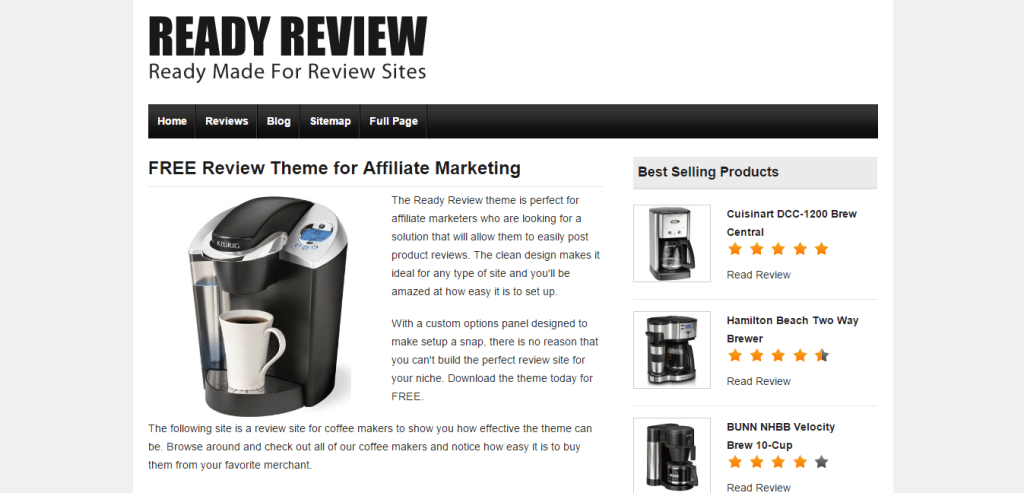 Ready Review Theme for WordPress