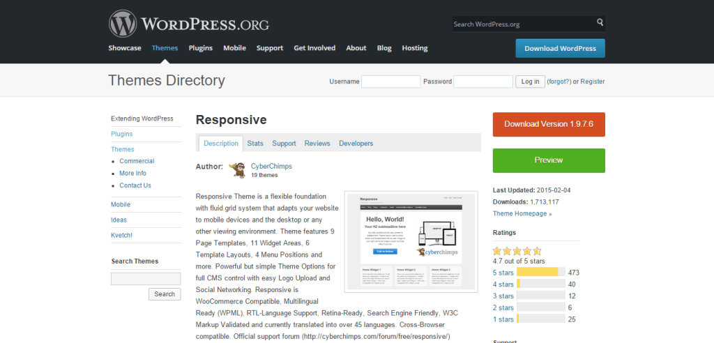 Responsive Free WordPress Themes