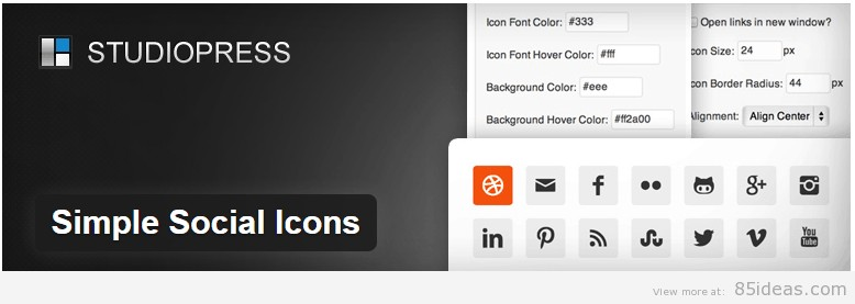 Simple Social Icons Plugin