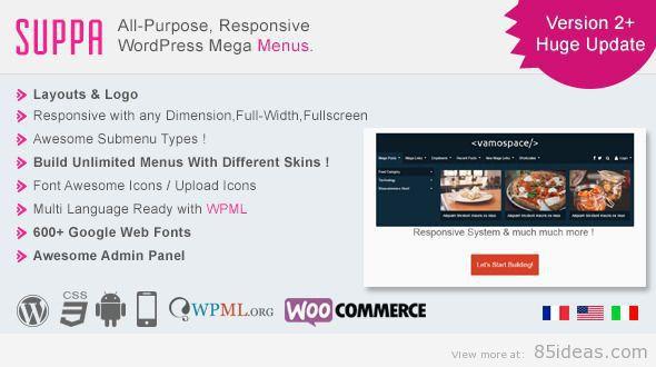 Suppamenu WordPress Plugin