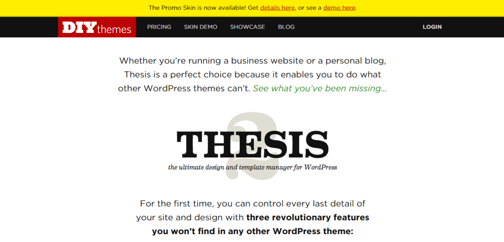 Thesis framework by DIYthemes
