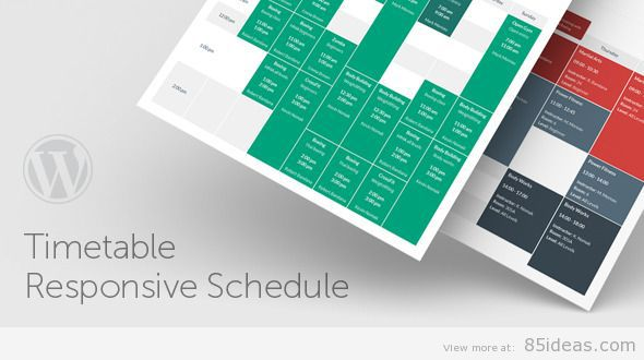 Timetable Schedule For WordPress