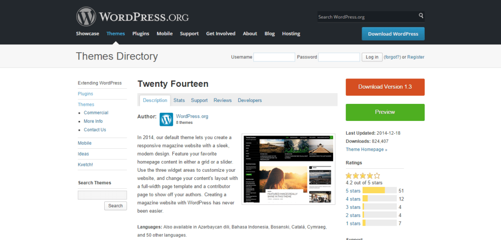 Twenty Fourteen Theme