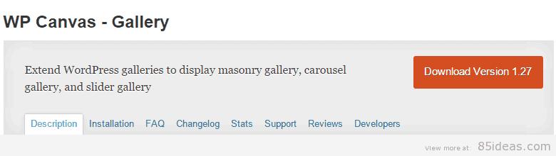 WP Canvas Gallery Plugin
