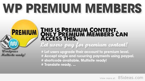 WP Premium Members