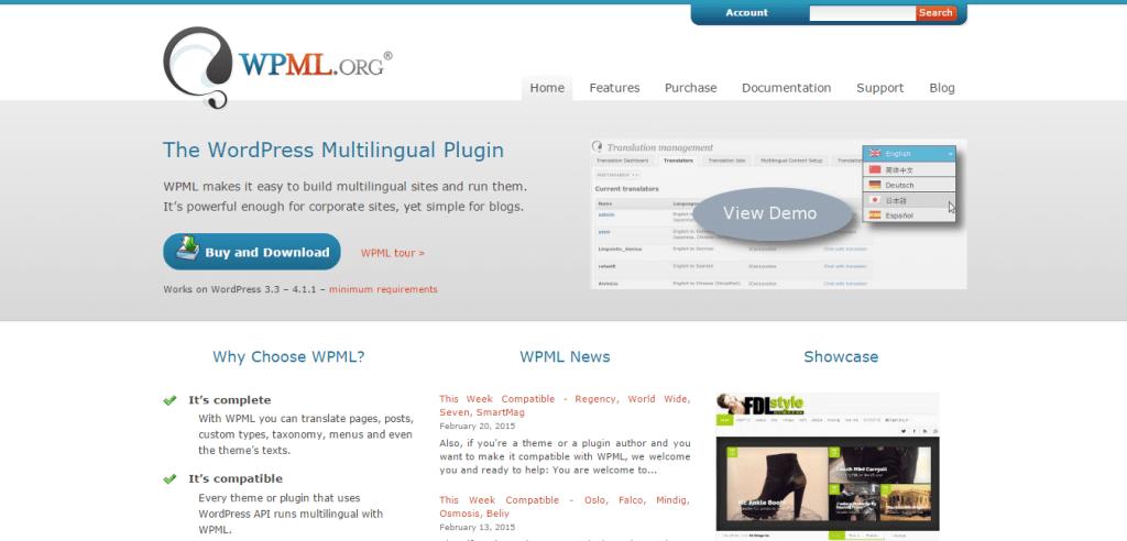WPML-WordPress Multilingual Plugin