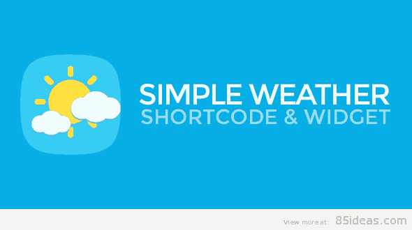 Weather WordPress Shortcode Widget