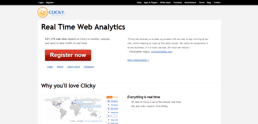 Web Analytics Clicky
