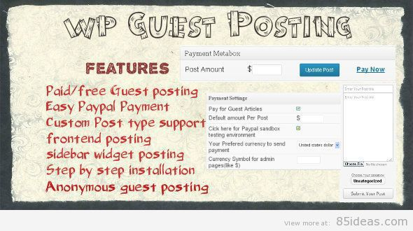 WordPress Guest Posting Plugin