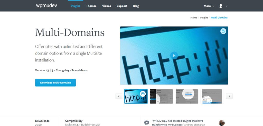 WordPress Multi Domains Plugin