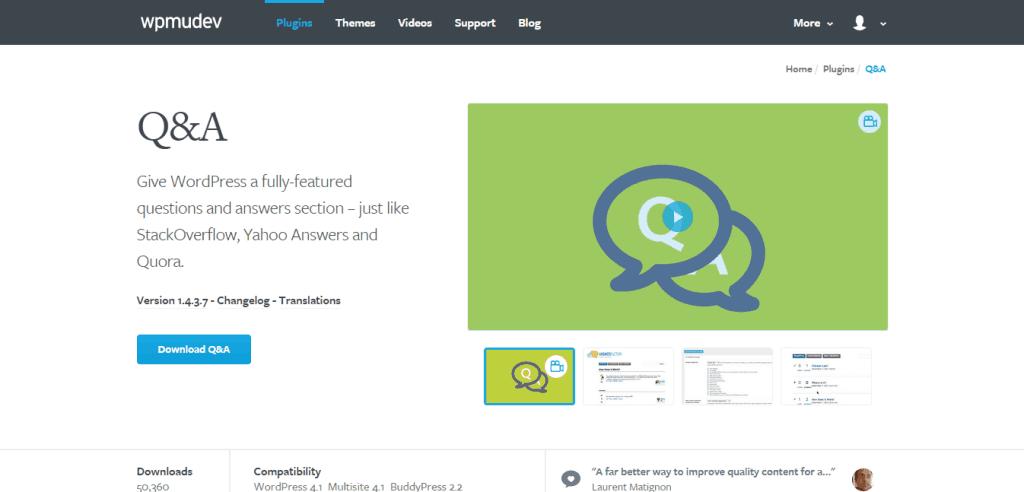 WordPress Q A Plugin