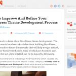 WordPress Theme Development Process