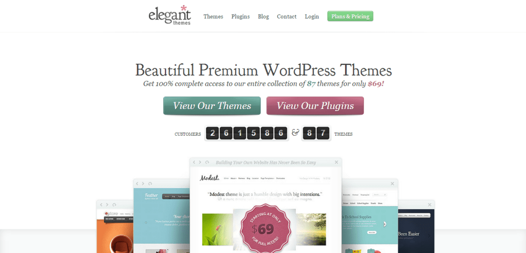 WordPress Themes By elegant themes