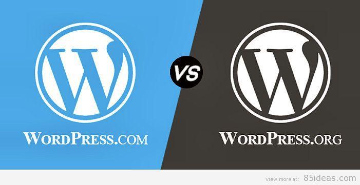 WordPress org vs com