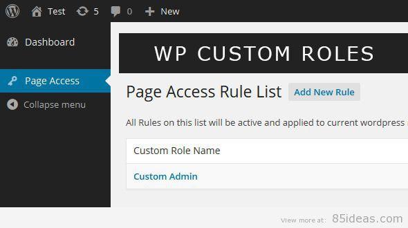 Wordpress Custom Role