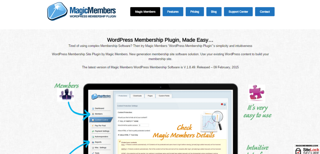 Wordpress Membership Plugin Magic Members