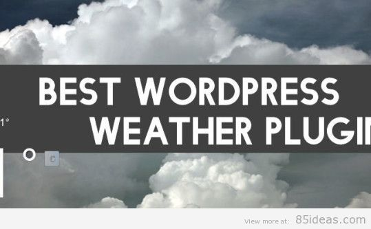 best WP weather plugins