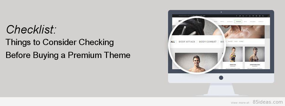 Buying a Premium Theme