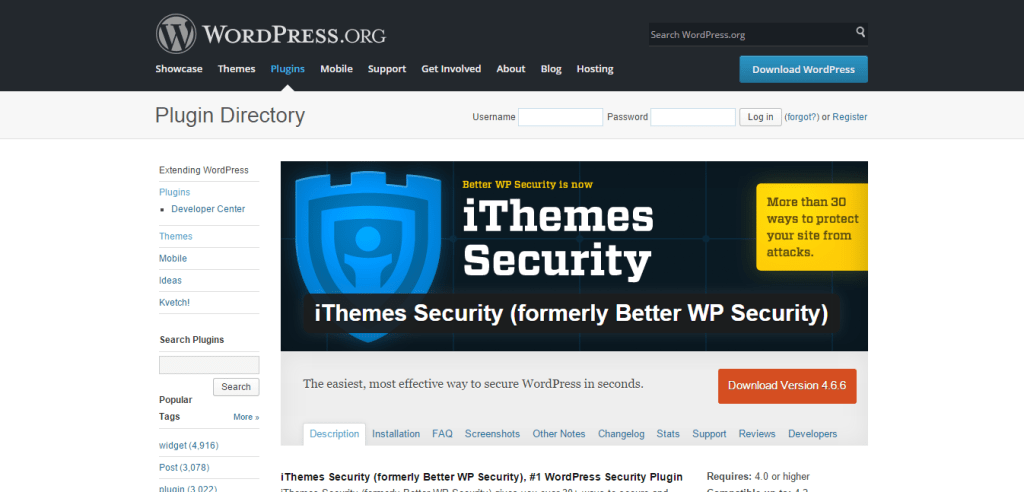 iThemes Security formerly Better WP Security