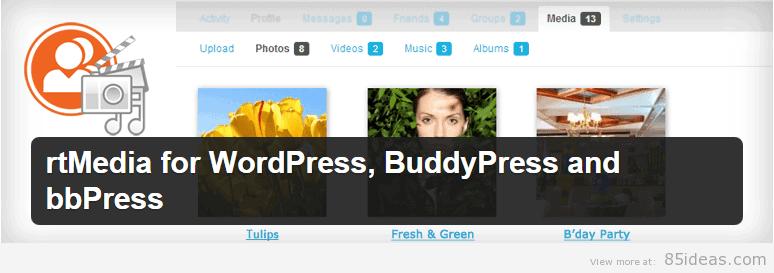 rtMedia BuddyPress Plugin
