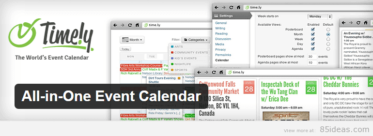 All in One Event Calendar Plugin