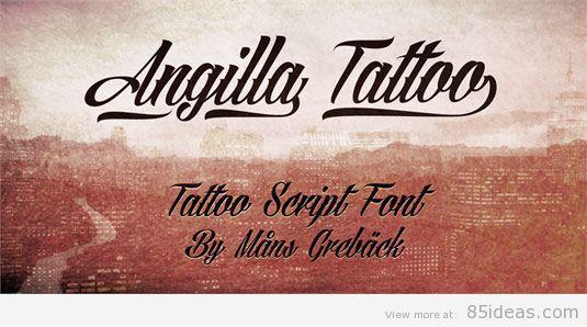 AngillaTattoo font