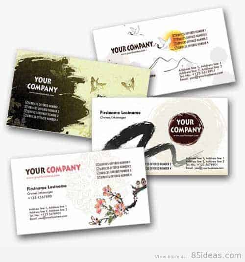 Asian-Inspired Personal Business Cards Templates