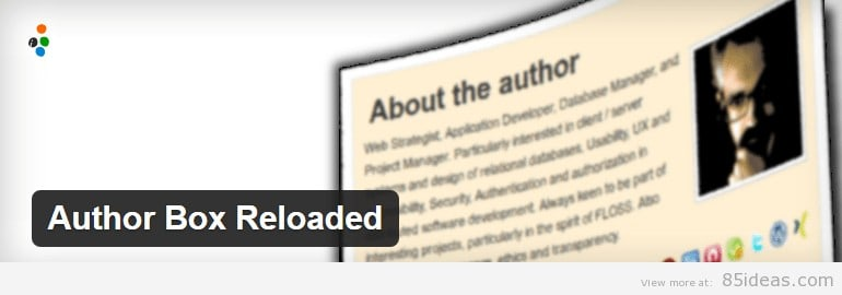 Author Box Reloaded Plugin