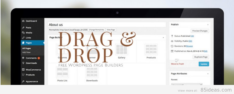 List of 7 Free WordPress Drag and Drop Page Builders - 85ideas com