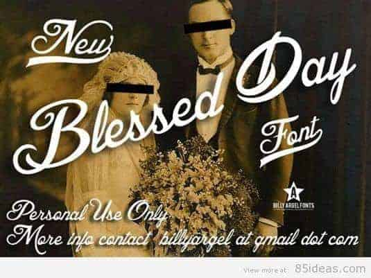 Blessed Day tattoo font