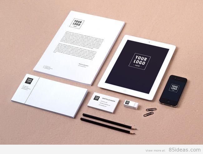 Branding Identity with iPad MockUp