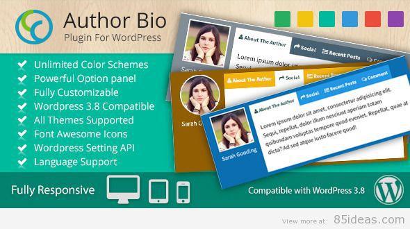CCR Author Bio WP Plugin
