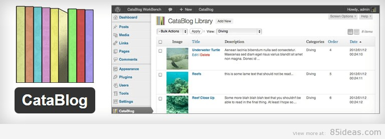 CataBlog WordPress Plugin
