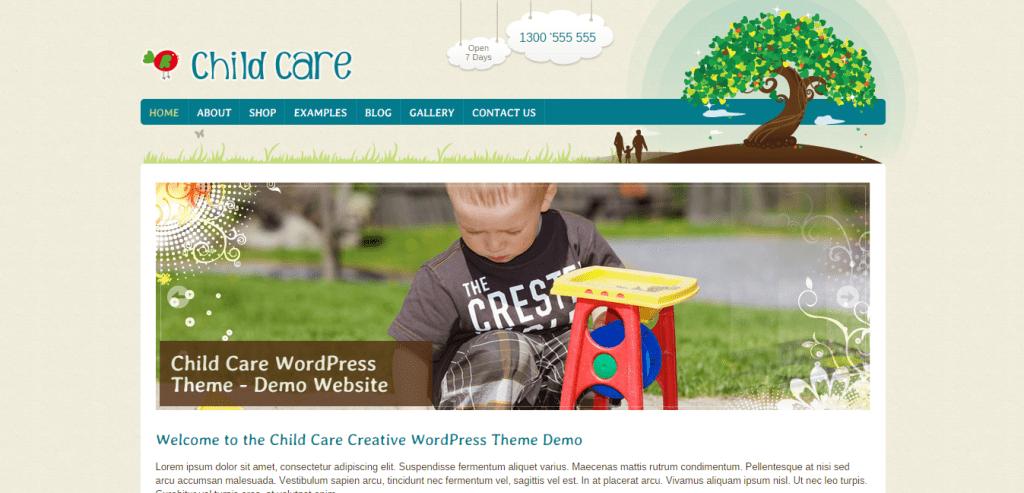 Child Care WordPress Theme