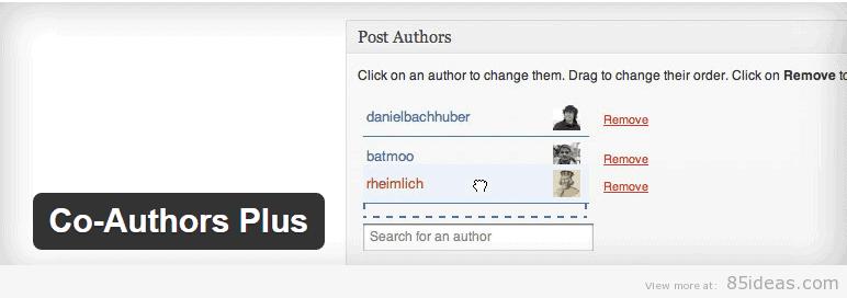 Co Authors Plus WordPress Plugin