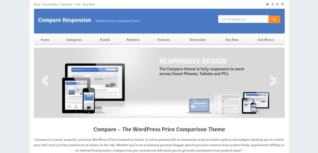 Compare Responsive Amazon WordPress Theme