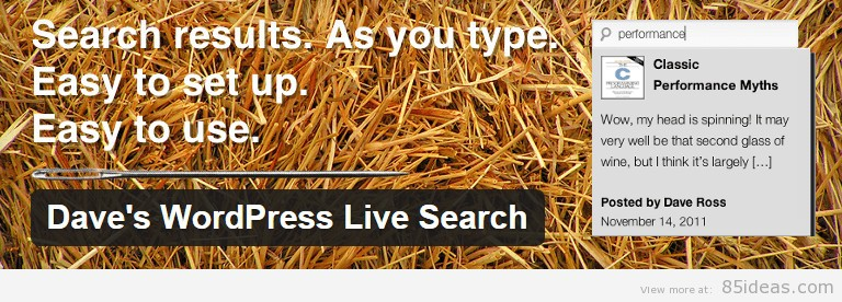 Dave WordPress Live Search Plugin