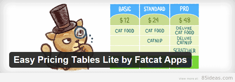 Easy Pricing Tables by Fatcat Apps