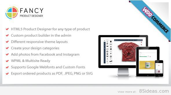 Fancy Product Designer WooCommerce plugin